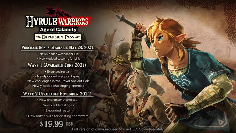 Two Waves of Hyrule Warriors: Age of Calamity DLC Announced