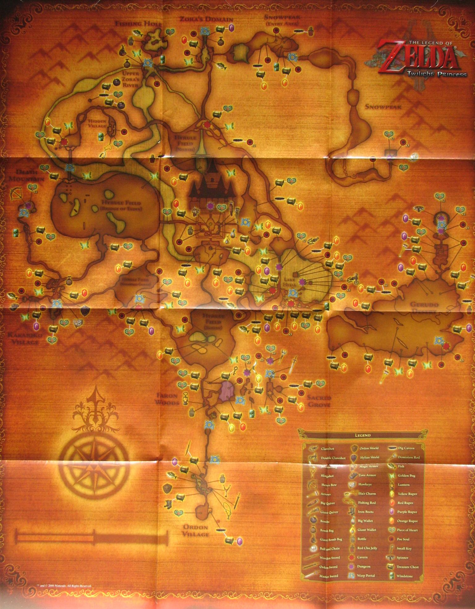 twilight princess overworld map