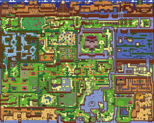 Link's Awakening Overworld Map