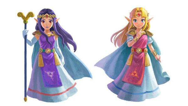 A Link Between Worlds Artwork Hilda and Zelda