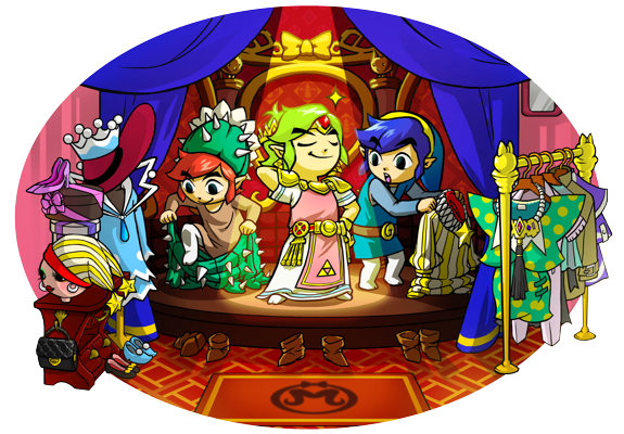 Tri Force Heroes Costume Art
