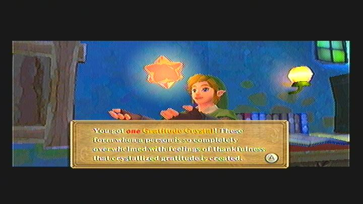 Skyward Sword Gratitude Crystal - Links Room