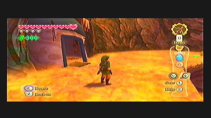 Skyward Sword Eldin Volcano Heart Piece