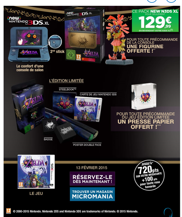 France Majora's Mask New 3DS Details