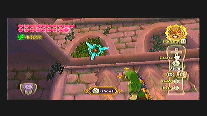 Skyward Sword Skyview Temple Roof Goddess Cube