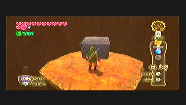 Skyward Sword Volcano Summit Goddess Cubes