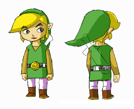 Toon link wind waker drawing