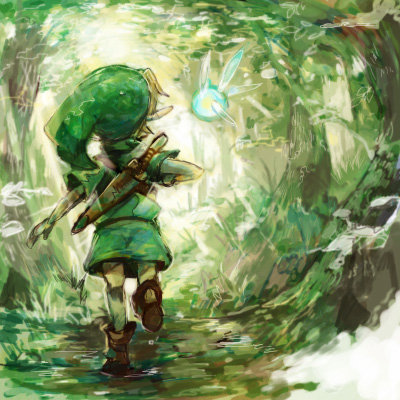 Link and Navi Fan Art