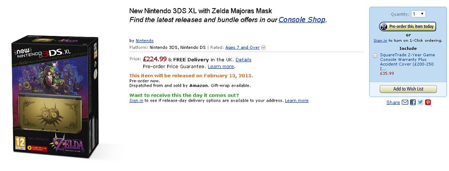 New Majora's Mask 3DS XL