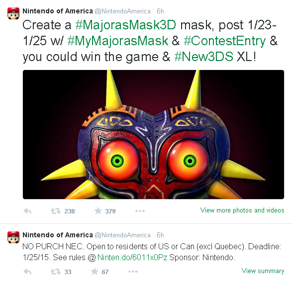 Majora's Mask Twitter Contest
