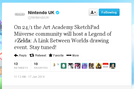 Nintendo UK Art Academy Sketchpad Miiverse Community Drawing Event