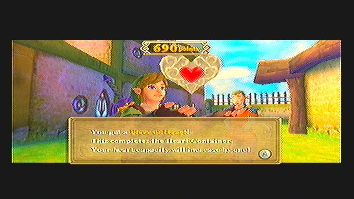 Skyward Sword Pumpkin Pull Heart Piece