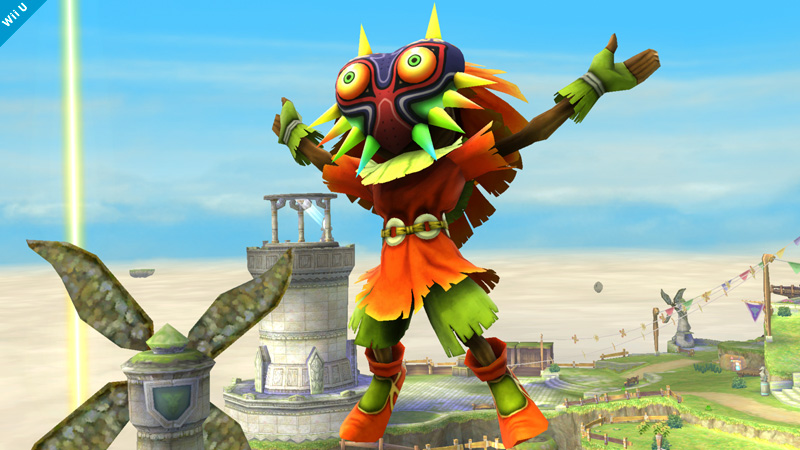 Skull Kid Assist Trophy Smash Bros Game