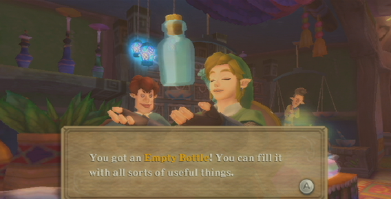 Skyward Sword Bottle Guide Bottle 1