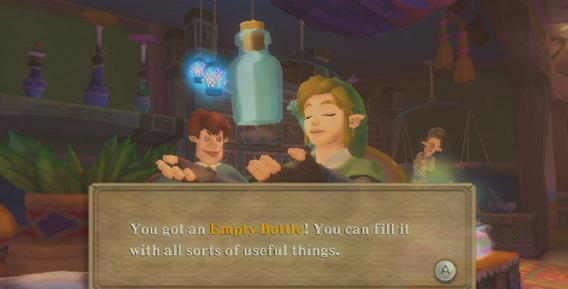 Skyward Sword Bottle Guide Bottle 1