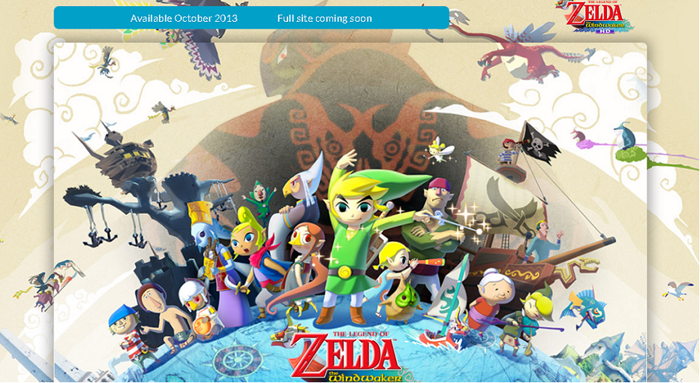 The Wind Waker HD North America Teaser Site