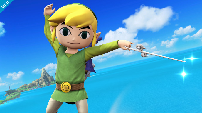 Toon Link from Super Smash Bros