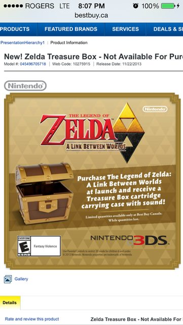 Best Buy Canada Offering A Link Between Worlds Preorder Chest Online Only