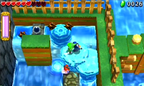 Tri Force Heroes Water Rod Gameplay Footage