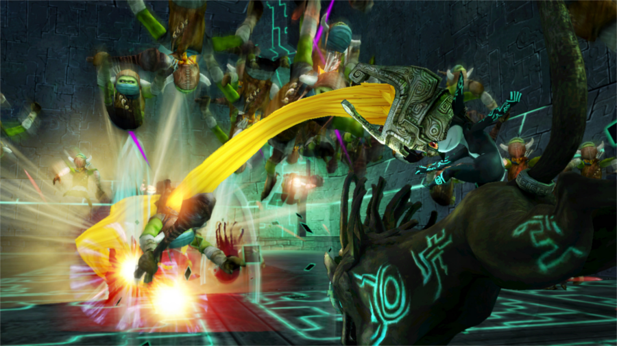 Midna fights alongside Twili-Wolf!