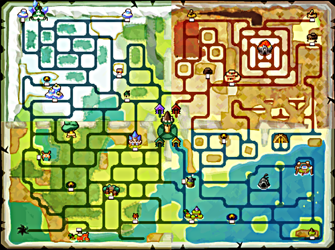 Spirit Tracks Overworld Map