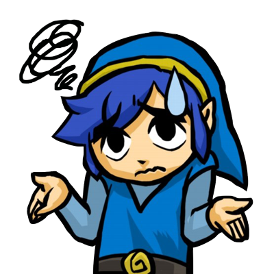 Tri Force Heroes Blue Link Shrugging