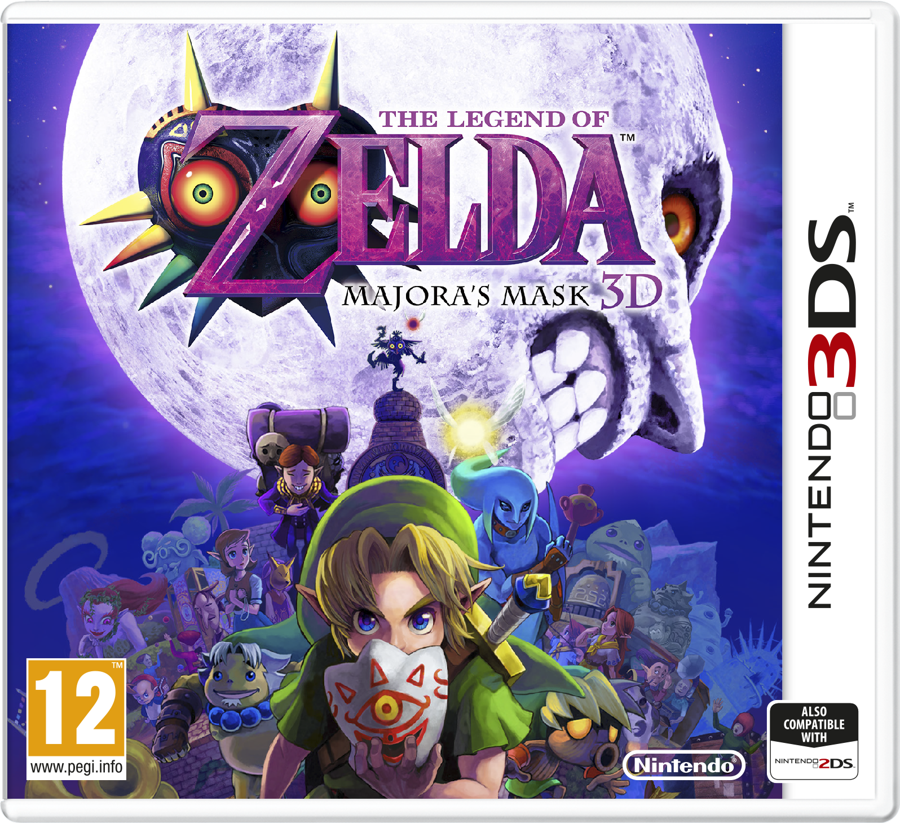 Majora's Mask 3D European Box Art