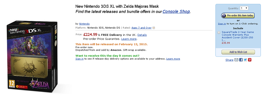 New Majora's Mask 3DS XL