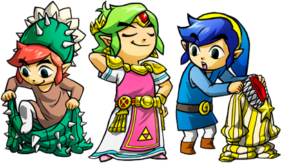 Tri Force Heroes Costumes Artwork