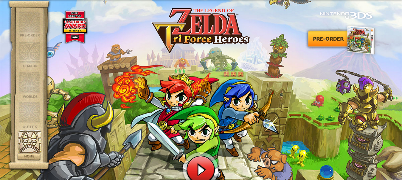 Tri Force Heroes Full Site Opens