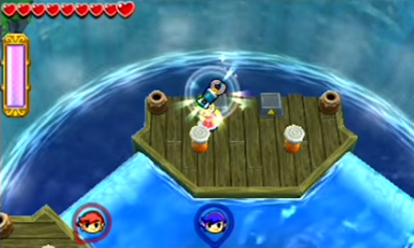 Tri Force Heroes Riverside Arena and Ice Cavern Arena Gameplay Footage