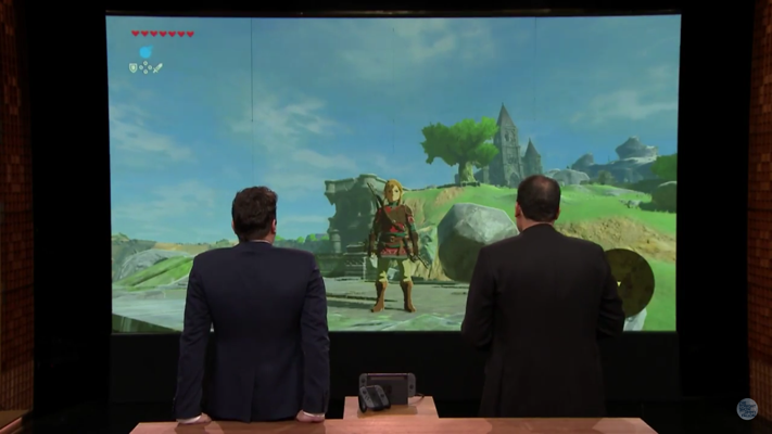 Zelda BotW Switch Footage Jimmy Fallon