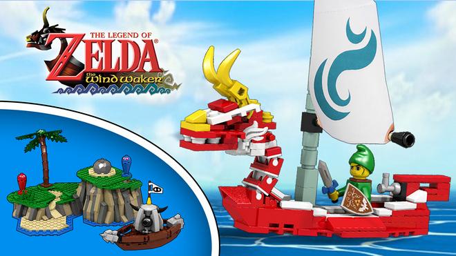 Zelda Wind Waker Legos